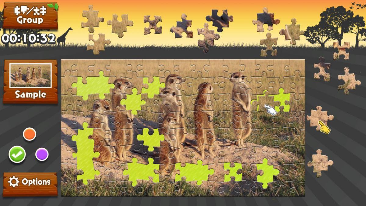 Animated Jigsaws: Wild Animals | Rainy Frog